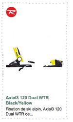 Fixations Axial3 120 Dual WTR Rossignol 2016