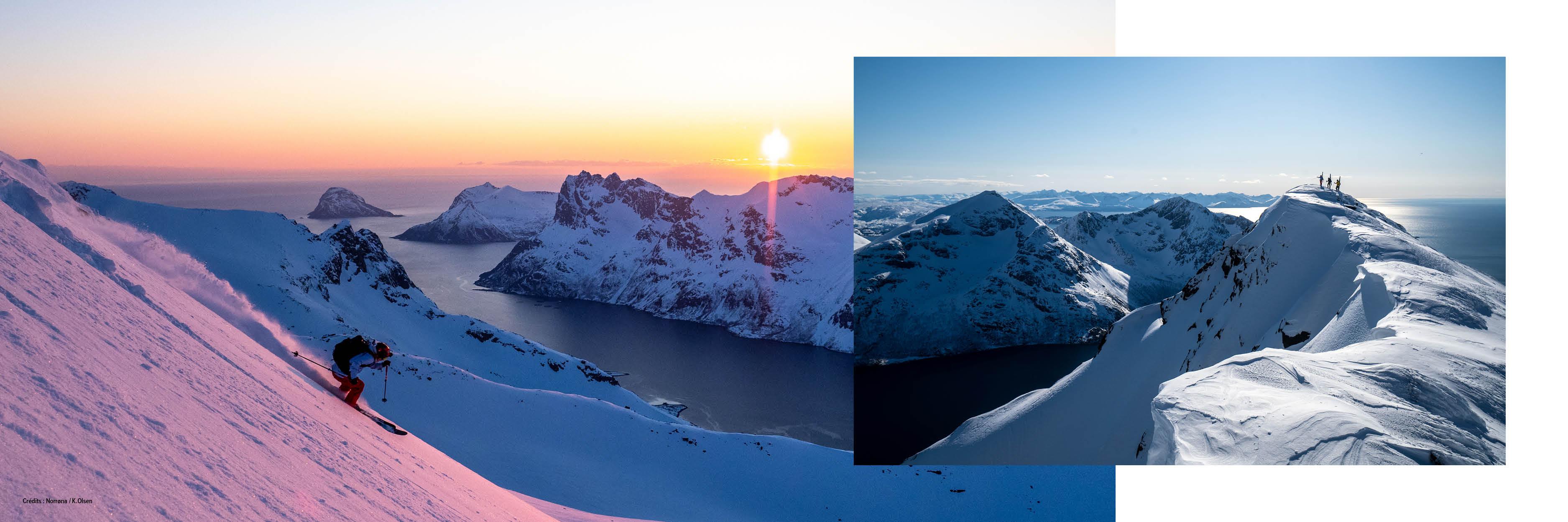 ski de randonnée dans les îles Lofoten