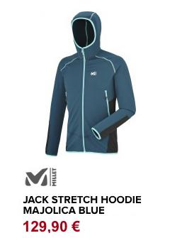 Jack stretch hoodie majolica blue