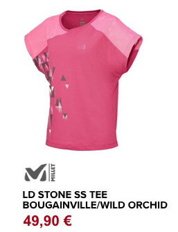 LD stone ss tee orchid