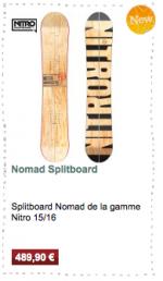 Nomad Splitboard Nitro