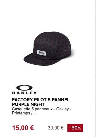 Oakley factory pilot casquette de plage