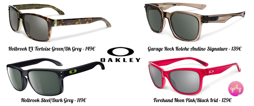 lunettes Oakley, holbrook, garage rock, protection solaire