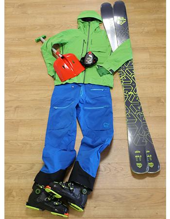 Ensemble de ski freeride