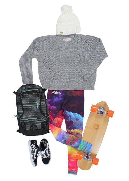 Tenue de skate fille
