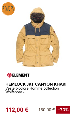 VESTE BICOLORE -ELEMENT
