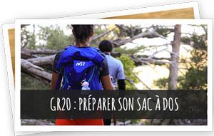 GR20 préparer son sac à dos