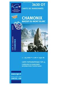 carte IGN Chamonix