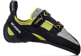 Les chaussons d'escalade asymétrique apportent plus de précision lors de la grimpe