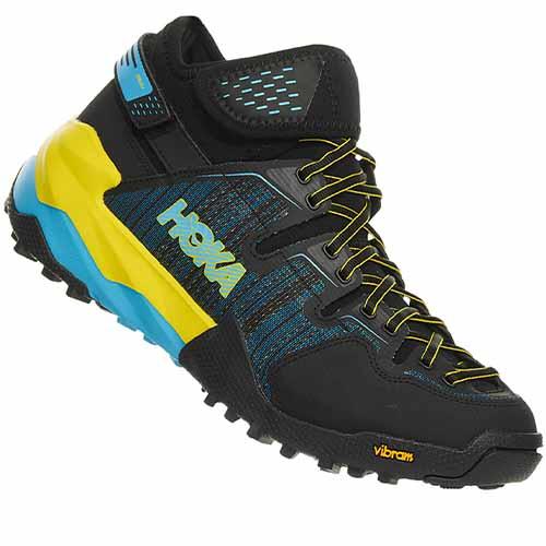 chaussure trail hoka m sky arkali black cyan citrus