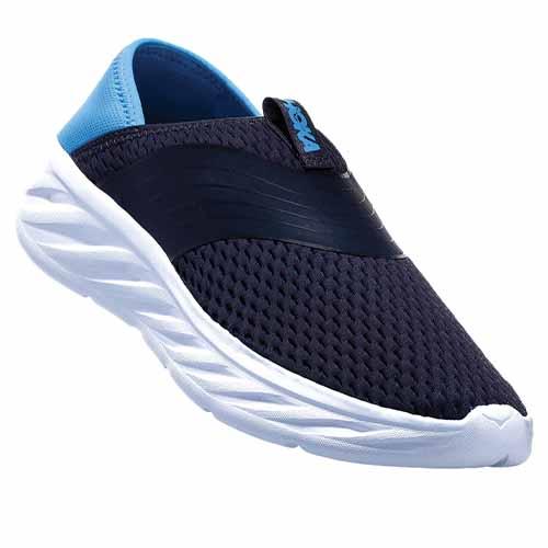 chaussure recuperation hoka ora recovery soes ebony dresden blue