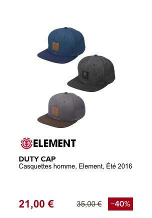 element duty cap casquette de plage