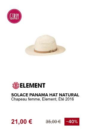 element solace panama chapeau de plage
