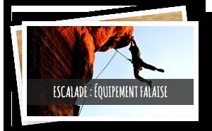 escalade équipement falaise