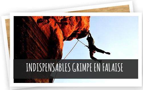 indispensables grimpe en falaise