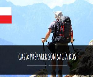 gr20: préparer son sac à dos