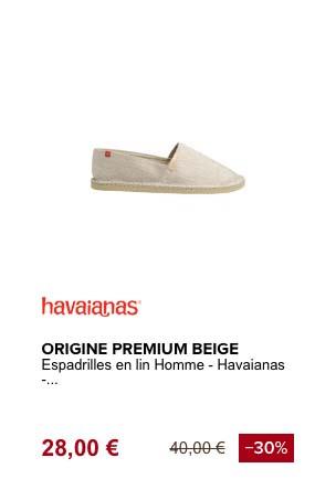 havaianas origin premium espadrille de plage