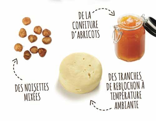 Ingrédients Cheesecake Reblochon-noisette SNOWLEADER