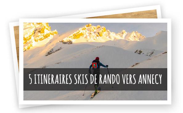5 itinéraires skis de rando proche Annecy