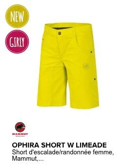 mammut short femme ophira