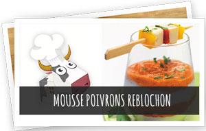 Blog Snowleader - recette : mousse poivrons reblochon