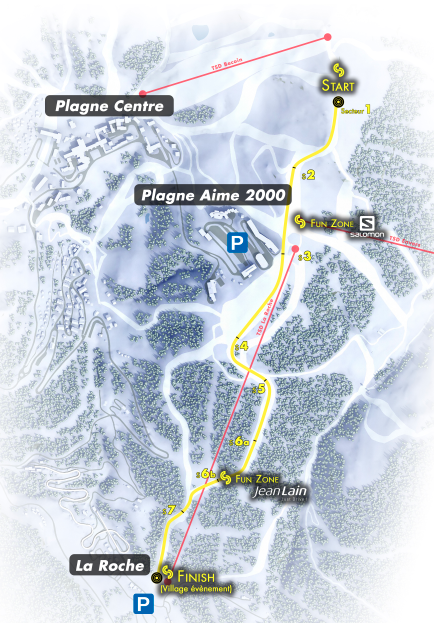 Plan de course super slalom