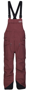 Pantalon Yeti Hunter Shell Bib Maroon