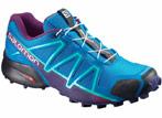 chaussures de trail salomon femme  speedcross 4 bleu