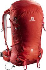 sac a dos randonnée salomon X alp 30 rouge