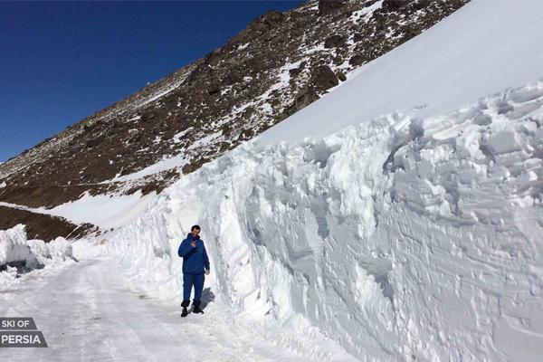 En Iran, les chutes de neige peuvent être très abondantes
