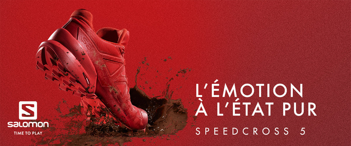 Speedcross 5 salomon rouge  homme
