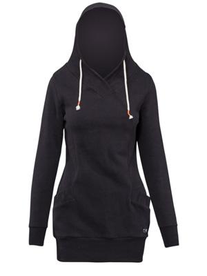 sweat long femme Picture Organic Clothing Abbey Black, avec ces motifs ethniques aux manches