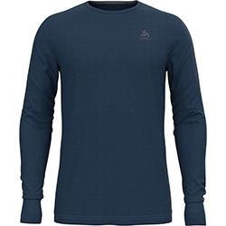T-Shirt ML natural 100 Merino Blue Wing Teal Odlo