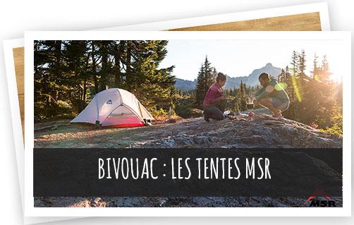 bivouac : découvrez les tentes MSR