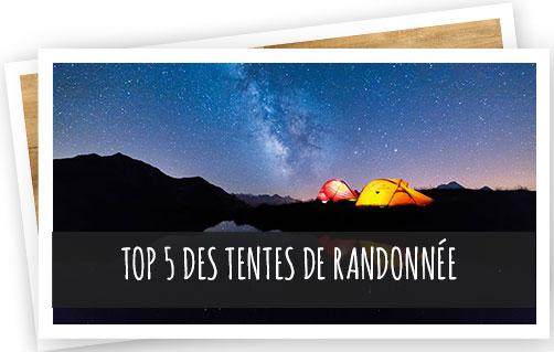 top 5 des tentes de randonnée