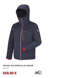 trilogy GTX stretch jkt saphir