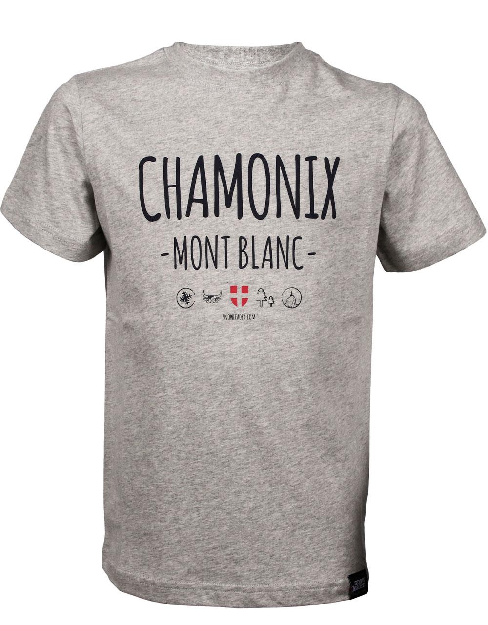 T-shirt Snowleader Chamonix Gris Junior