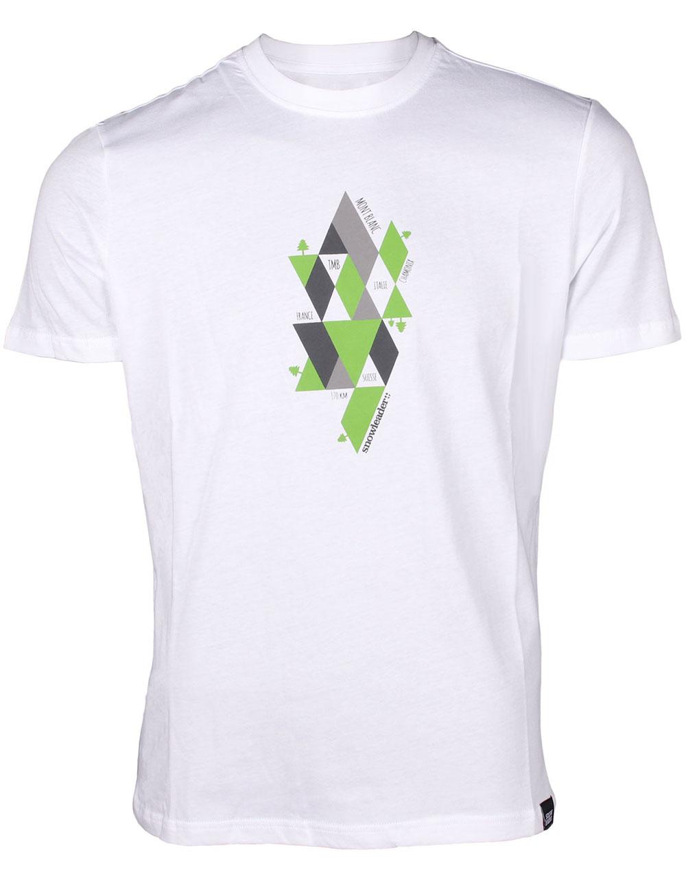 T-shirt Snowleader TMB Chamonix Blanc