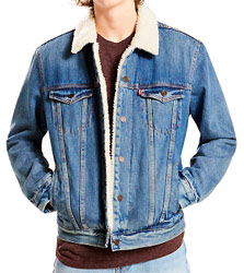 sherpa trucker needle park jacket levi's