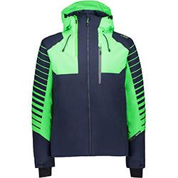 Visuel Man Jacket Fix Hood Black Blue CMP