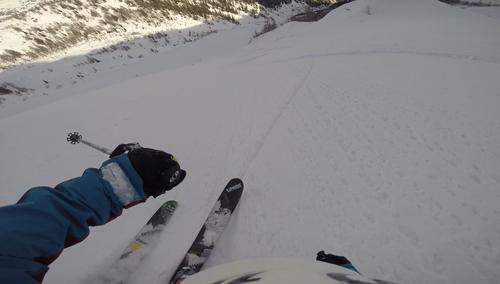 Martin en ski