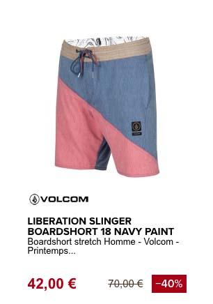 volcom liberation slinger boardshort de plage