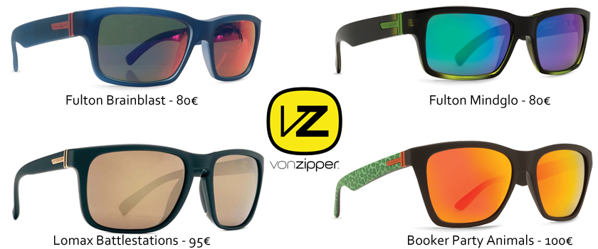 lunettes solaires Von Zipper, protection solaire, indice 2, indice protection 3